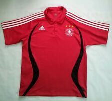 VINTAGE ADIDAS CLIMALITE GERMANY NATIONAL SOCCER TEAM POLO  JERSEY IN SIZE L