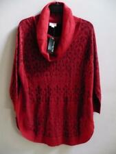 Kim Rogers Red Cowl Neck Sweater  Medium  NEW   Quarter Sleeve  NWT