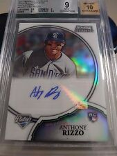 Anthony Rizzo 2011 Bowman Sterling RC Ref Auto /199 BGS 9 Mint Padres Cubs
