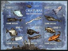 Guinea-Bissau Fish Stamps 2010 MNH Deep Sea Creatures Fishes Marine 5v M/S