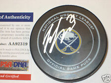 ZEMGUS GIRGENSONS Signed Buffalo SABRES Official GAME Puck w/ PSA COA