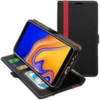 Coque Samsung J4+ Galaxy J415F (2018) Portefeuille Housse PU Cuir Porte-Cartes