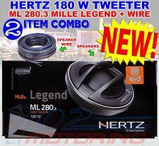 NEW GENUINE HERTZ ML 280.3 MILLE LEGEND SET TWEETER NEODYMIUM 4OHM CAR 28MM 180W
