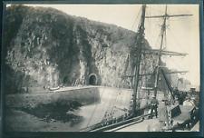 Europe, Vue d'un voilier à quai, ca.1903, vintage silver print Vintage silv