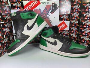 Nike Air Jordan 1 Retro High OG Pine Green White 555088-302 Size 14