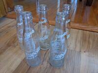 Lot Of 5 Vintage Grapette Grape Soda Pop 6 Ounce Bottles