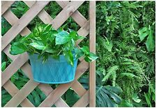 Resin Plastic Wall Hanging planter Garden Plant Pot, 12x6.9x8.6Inch Green 3Pack