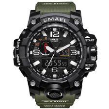 Reloj Digital Reloj Deportivo SMAEL impermeable para hombres De Cuarzo Analógico-Verde Militar
