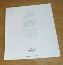 Jaguar & Daimler Colour & Trim Guide Brochure 1994-1995 XJS Convertible XJ6