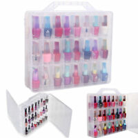 Professional Nail Polish Holder Clear Display Container 48 Lattice Storage Box