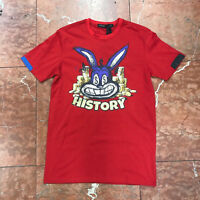 Men's History Money Bunny Red Tee Shirts by Hudson
