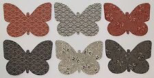 Die-Cut APPLIQUE Butterfly Shapes - JAPANESE Indigo Red Butterflies SALE $10.00