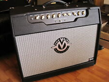 THE VALVE Amplifier 2 x 12 Handmade Boutique Tube Amp Combo Blk/Blk/Silver