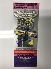 2000 Brickyard 400 Winner Bobby Labonte Signed Ticket Stub NASCAR Indianapolis