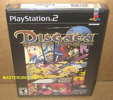 PS2 Disgaea Hour of Darkness 1st Print Black Label New (PlayStation 2, 2003)