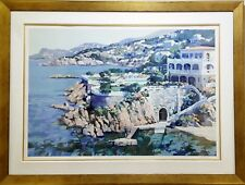 """HOWARD BEHRENS """"Cap Roux 1990"""" Signed Serigraph Framed 53' x 40"""""""
