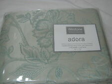New Westone Home Fabric Shower Curtain Adora Sage Jacquard Nip