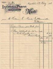 Locher & Pabst Murgenthal 1919 Schweiz Aargau alte Rechnung historische Note