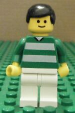 LEGO MINIFIGURE– SPORTS – SOCCER – GREEN & WHITE TEAM #7 – GENTLY USED