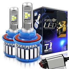 T1 H13 9008 Hi Lo Turbo LED Headlight Conversion Kit 80w 6000k White Canbus