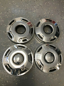 "(4) vintage 12"" dog dish hubcaps 4x4 Ford F250 F350 pickup 02242102"