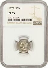 1875 3cN NGC PR 65 - 3-Cent Nickel