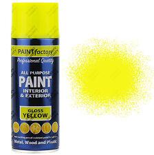 22 x 400ml Multiuso Giallo Lucido Spray Vernice Spray Per la casa Auto Plastica