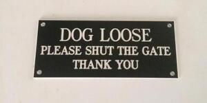 Dog Loose Signs, Different Sizes