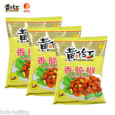Shandong specialty Huang Fei Hong crisp pepper peanuts,山东特产黄飞红香脆椒花生308g x 3bags