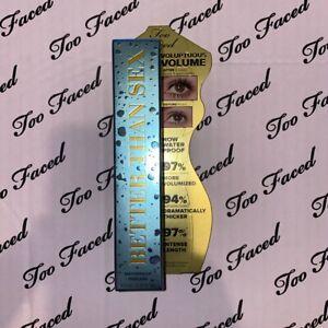 Too Faced Waterproof Better Than Sex Prestige Volume Mascara Black Genuine BNIB