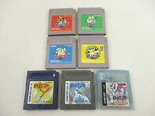 Game Boy ALL POKEMON SET GB Video Game Cartridge gbc