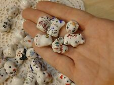 Lot of 50 Ceramic Beads Mixed Animals. Cows, chickens, mice, pigs, ect.