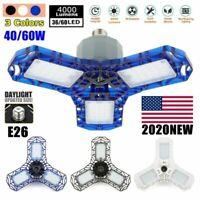 40W-120W Deformable LED Garage Light Super Bright Shop Ceiling Lights Bulb USA