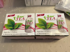 (2) 5-hour Green TEA ~ Raspberry Flavor ~ 6-Pack - Sugar Free ~ 4 Calories