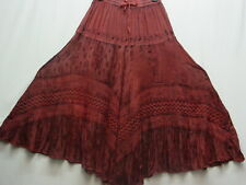Skirt Pirate Boho Renaissance Fair Morman Trek Old West Victorian Pioneer Rust