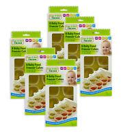 First Steps Baby Weaning Food Gel Cubes Plateau pots congélateur conteneur de stockage