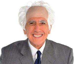 Balding Old Man Wig White, One Size