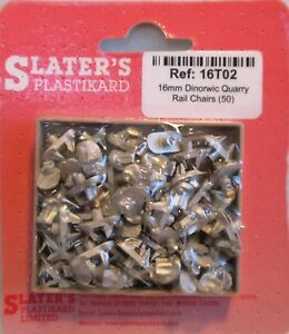 Slaters 16T02 50 x Dinorwic Quarry Rail Chairs White Metal 16mm Scale 32mm Gauge