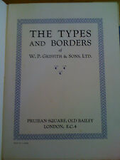 The Types and Borders of WP Griffiths & Sons, Prujean Square, Old Bailey