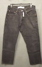 LEVI'S MENS 505 size 32 x 30 ( 29 x 28 ) regular fit BLACK denim JEANS EUC #1855