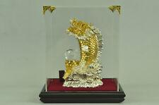 SUPER DEAL Bronze DRAGON Thrones Sculpture Serpent Reptile Lizard 24K Gold