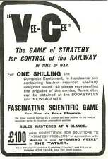 WW1 Fascinating Scientific Strategy Game Vee-cee Ad