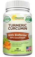 Pure Turmeric Curcumin 1600mg with BioPerine Black Pepper Extract - 180 Capsules