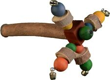 More details for parrot bird cage perch toy natural wooden spinning twirler for large parrots