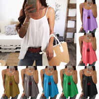 Sleeveless Women Chiffon Sling Loose Tops Vest Tank Casual Camisole Fashion Plus