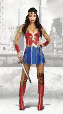 Adult DC Wonder Woman Costume Superhero Cosplay Fancy Dress