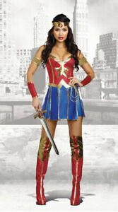 Adult Wonder Woman Costume Superhero Cosplay Fancy Dress