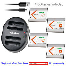 Kastar Battery Dual USB Charger for Sony NP-BN1 BC-CSN Sony Cyber-shot DSC-W830