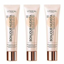 3 x MEDIUM LIGHT L'Oreal Bonjour Nudista BB CREAM Awakening Skin Tint