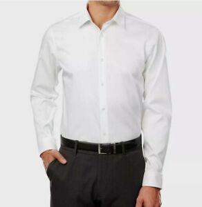 Calvin Klein 15 32/33 Slim Fit Stretch Infinite White Dress Shirt